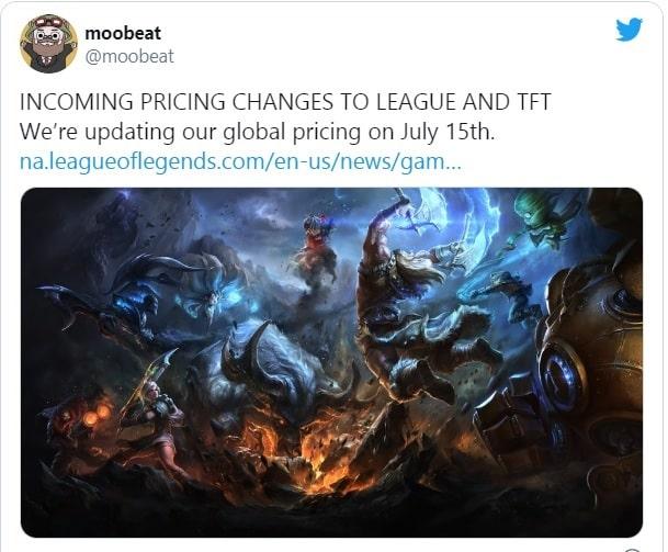 thông báo riot tăng giá rp