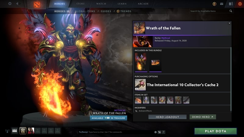 items set dota2 mới wrath of the fallen