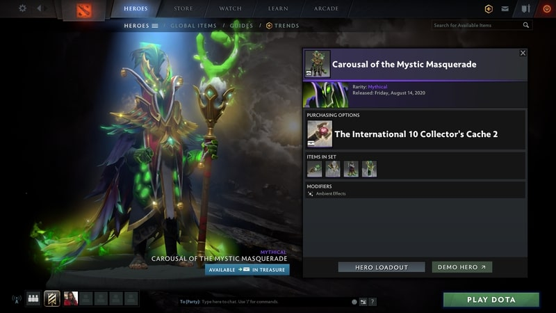 items set dota2 mới carousal