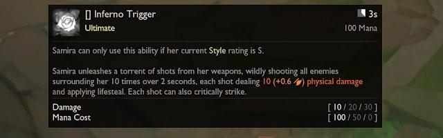 Kỹ năng R - Inferno Trigger