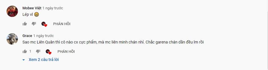 Khán giả bình luận khiếm nhã về MC VCS
