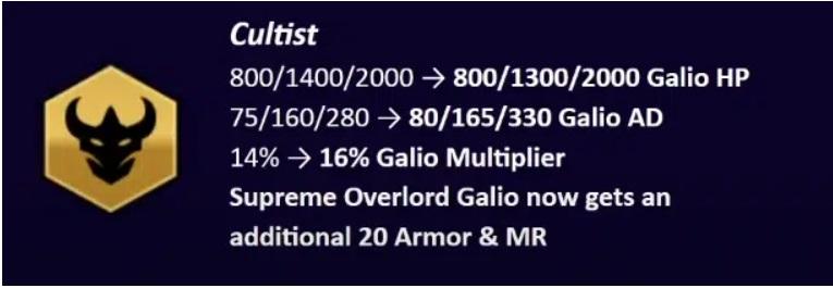Galio của tộc Cuồng Giáo vị giảm sức mạnh